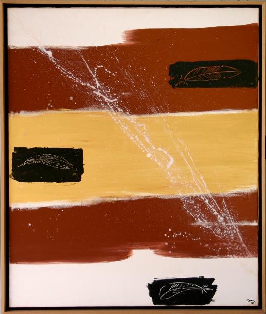 Gabbiani (2001) - Acrilico su tela, 100x120 cm