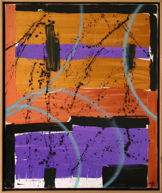 Soho (2001) - Acrilico su tela, 100x120 cm