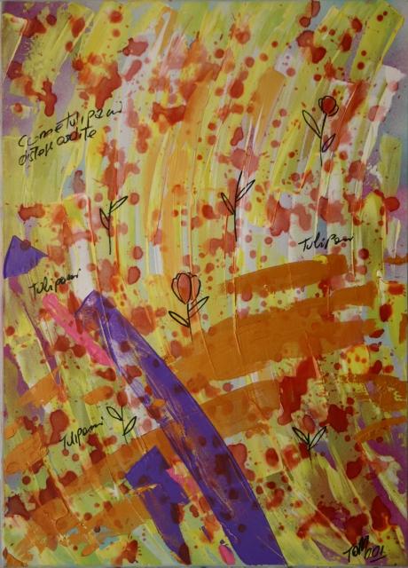 Tulipani (2001) - Acrilico su tela, 50x70 cm