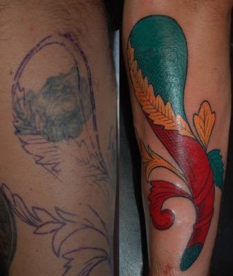 Tatuaggio, asso di bastoni