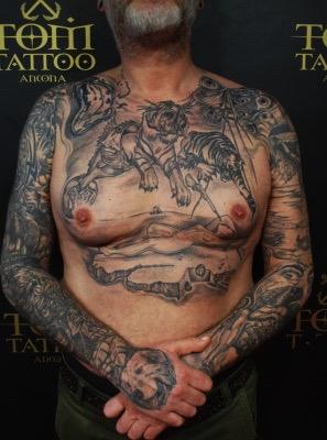 tatuaggio, soggetti di Salvator Dalì