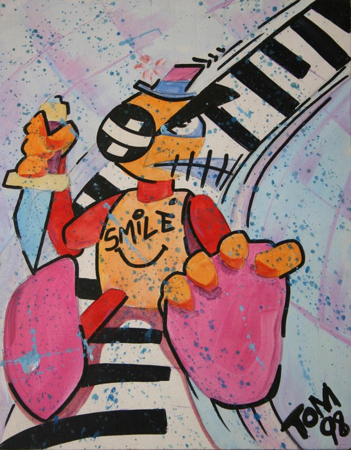 Sto suonando con i denti, graffiando la tastiera, nella speranza di uccidere, melodico tango.
