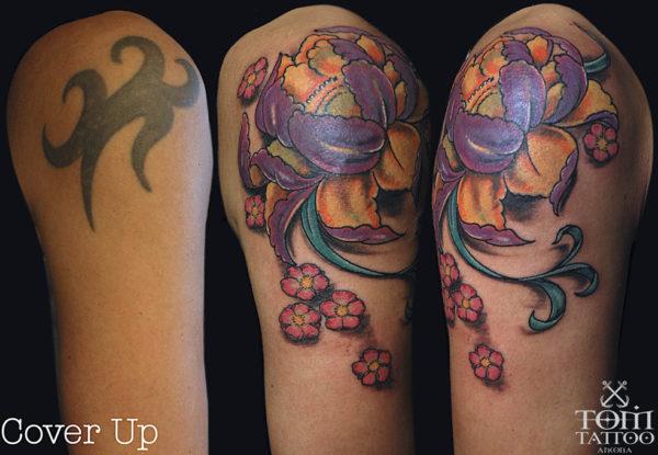 Copertura con fiore di loto